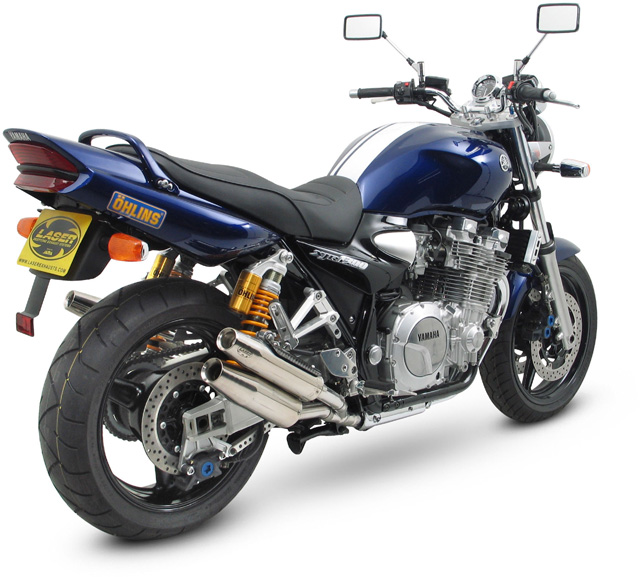 laser exhaust muffler x treme 4 pipe system xjr 1300 from 04. Black Bedroom Furniture Sets. Home Design Ideas